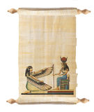 Scroll with Egyptian papyrus Stock Photo