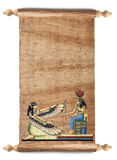 Scroll with Egyptian papyrus Royalty Free Stock Photo