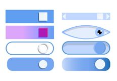 Scroll element. Vector illustration: scroll element, push button Stock Photos