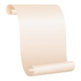 scroll för blankt papper Arkivfoto