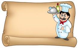 scroll för kock 2 stock illustrationer