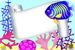 scroll för korallramfoto vektor illustrationer