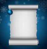 scroll för papir för filialjulgreen gammal Royaltyfri Fotografi