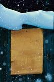 Scroll för papper för bakgrund för nytt år för konstjul Fotografering för Bildbyråer