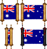 Scroll with the flag from Australia Stock Photography