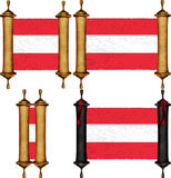 Scroll with the flag from Austria Royalty Free Stock Photos
