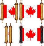 Scroll with the flag from Canada Stock Image