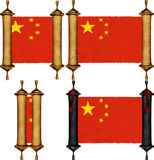 Scroll with the flag from China Stock Photo