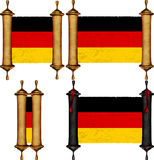 Scroll with the flag from Germany Stock Photos
