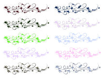 Scroll Floral Lines Stock Images