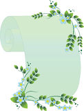 Scroll with flowers royalty free stock photography