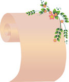 Scroll with flowers. The vector illustration contains the image of scroll with flowers Stock Images