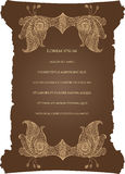 Scroll frame with abstract pattern Stock Photo