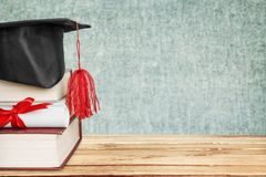Scroll. Graduation roll learned on hanging copy royalty free stock photography