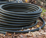 Scroll Of Plastic Sewer Pipe Royalty Free Stock Images
