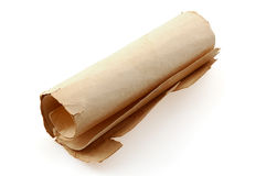 Scroll of old paper Royalty Free Stock Photo