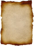 Scroll of old paper with curled edges isolated Royalty Free Stock Photos