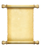 Scroll of old paper Stock Photo