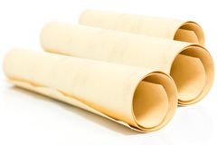 Scroll of old papper Stock Photography