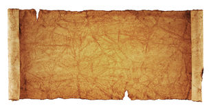 Scroll of old parchment Stock Image