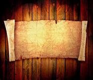 Scroll of old parchment Royalty Free Stock Photography