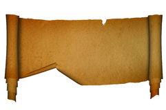 Scroll old parchment. Stock Photos
