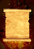 Scroll of old parchment Royalty Free Stock Photos