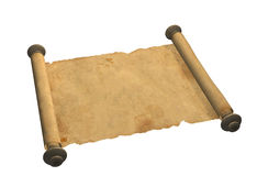 Scroll of old parchment Stock Photo