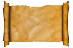 Scroll old parchment for design. Stock Images