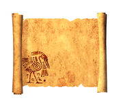 Scroll of old parchment Stock Photography