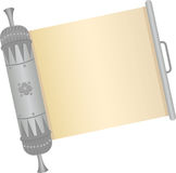 Scroll. An open decorative silver scroll. Eps10 vector illustration