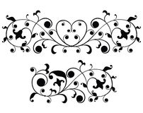 Scroll, ornament, vector royalty free illustration