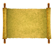 Scroll paper Stock Image