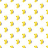Scroll paper and feather pattern, cartoon style Royalty Free Stock Photography