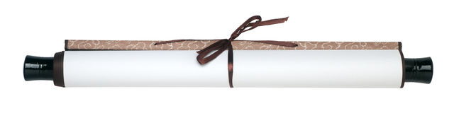 Scroll of paper Royalty Free Stock Photos