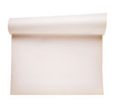 Scroll paper, smooth paper. Isolated on white Stock Photography