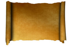 Scroll of parchment Stock Images