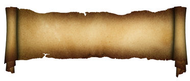 Scroll of parchment. Stock Image