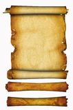 Scroll of a parchment and two rolls Stock Photo