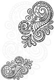 Scroll pattern. Seamless floral background. Stock Photo