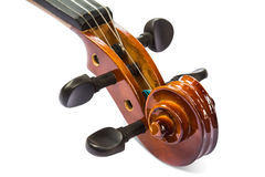 Scroll and pegbox of violin Royalty Free Stock Image