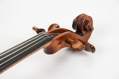 The scroll and pegs of a fine violin Stock Image