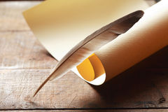 Scroll And Quill Stock Image
