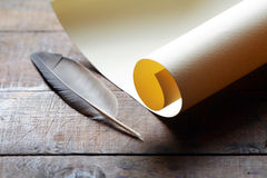 Scroll And Quill Royalty Free Stock Image