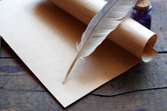 Scroll And Quill Stock Photos