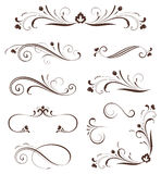 Scroll Set Floral Royalty Free Stock Photos