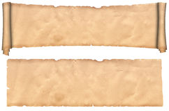 Scroll and sheet of old paper. Royalty Free Stock Photography