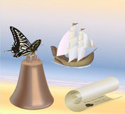 Scroll on the shore Royalty Free Stock Photos