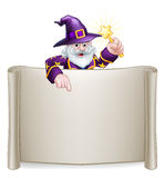 Scroll Sign Cartoon Wizard Stock Photography