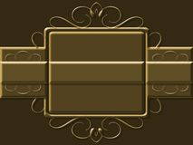 Scroll style background. Metallic scroll style illustrated background Royalty Free Stock Images